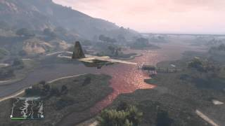 GTA V Xbox One - Batteries died whilst flying! Close call!
