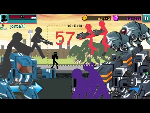 Anger Of Stick 5 Robot vs Hulk Level 57 Replay