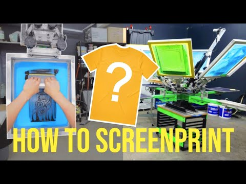 Screen Print Your Own T-Shirt: Step by Step Tutorial