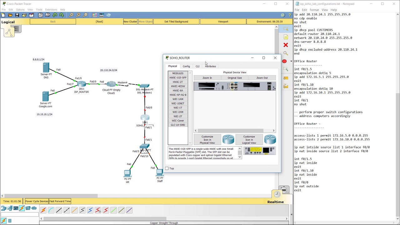 hight resolution of connecting cisco router to dsl modem with isp configurations
