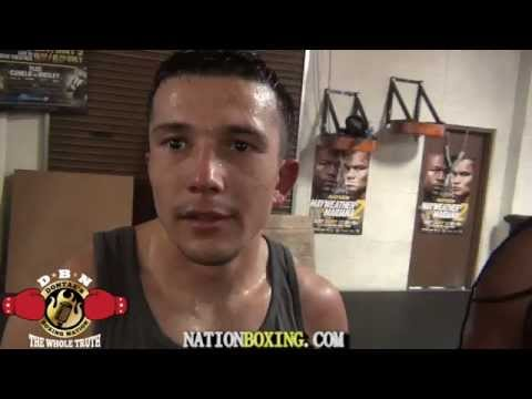 NEW EXPLOSIVE PUNCHER FROM UZBEKISTAN SPARS/TRAINS AT MAYWEATHER GYM