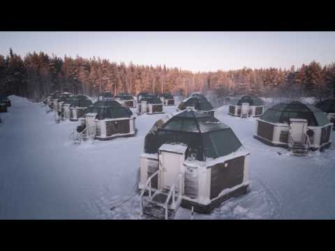 Arctic SnowHotel and Glass Igloos in Rovaniemi in Lapland Finland - Finnish Lapland tourism