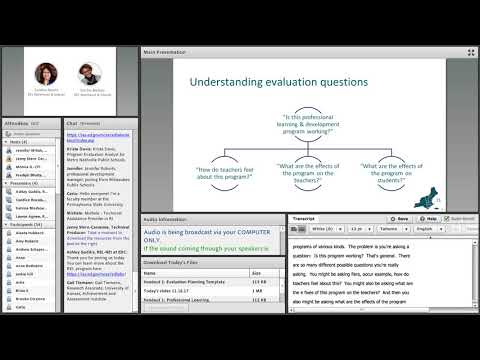 Planning for High-Quality Evaluation of Professional Learning, Session 2