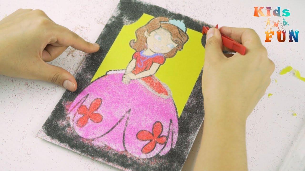 Prenses Sofia Kum Boyama Oyunu Kum Boyama Sand Painting Youtube