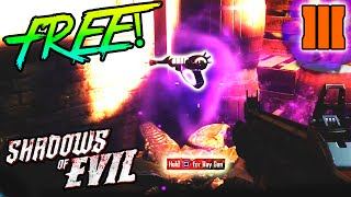How to get a FREE RAY GUN in Shadows of Evil! | Shadows of Evil FREE Ray Gun (Black Ops 3 Zombies)