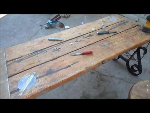Liberty Ship Hatch Cover Table Restoration
