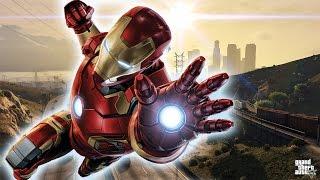 GTA 5 PC Mods - IRON MAN MOD Suit! GTA 5 Iron Man Gameplay! (GTA 5