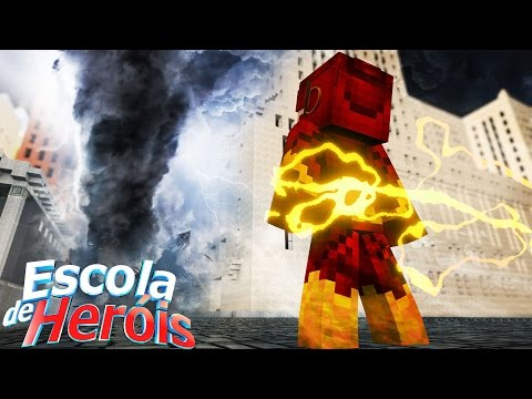 Minecraft: FURACÃO EM CENTRAL CITY! #09 ( ESCOLA DE HERÓIS )