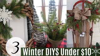 3 RUSTIC FARMHOUSE WINTER DIYS…