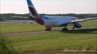 Flugzeuge am Flughafen Hamburg Start und Landung 15 09 2016  Aircraft in the film are