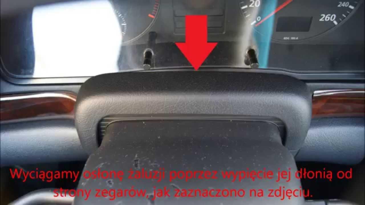 Zdjęcie Zegarów Tablicy Rozdzielczej W Audi A4 B5 Wymiana żarówek