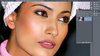 Skin retouching in Photoshop