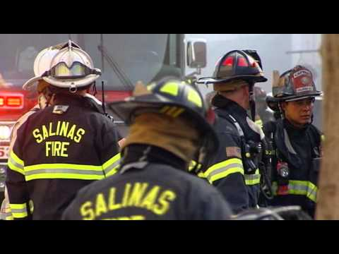Raw Video: Dick Bruhn building fire in Salinas