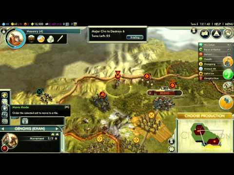 Let's Play Civilization V: Rise of the Mongols (Emperor difficulty); part 1 |