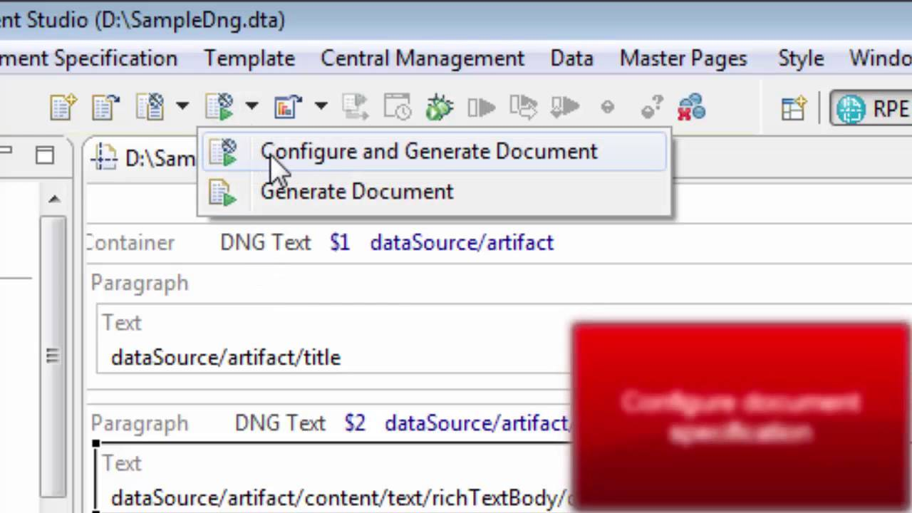 Rpe Generate A Requirements Document From Doors Next Generation