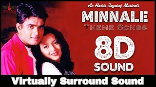 Minnale Theme Songs | 8D Audio | Madhavan, Rheema Sen | Harris Jayaraj 8D Songs
