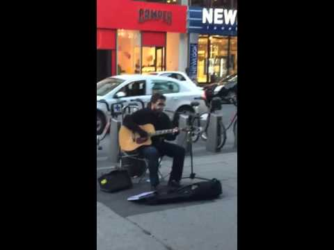A great song on the streets of Montreal