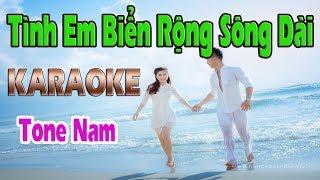 Tình Em Biển Rộng Sông Dài Karaoke | Tone Nam | Nhạc Sống Thanh Ngân