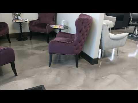 Decorative Epoxy Flooring for Hair Salon / Commercial Flooring - Premier Concrete - Columbus Ohio