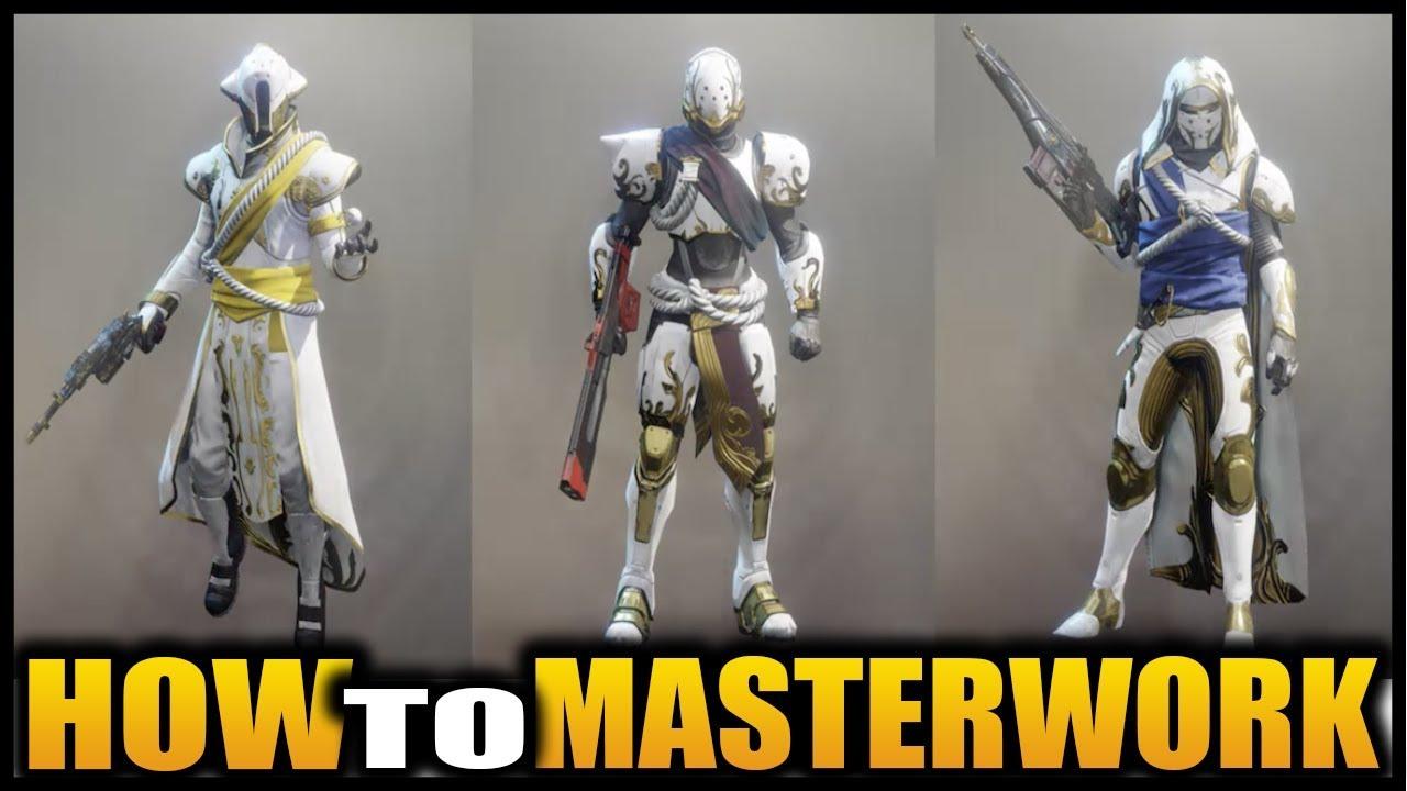 HOW TO MASTERWORK SOLSTICE ARMOR (DESTINY 2) - YouTube