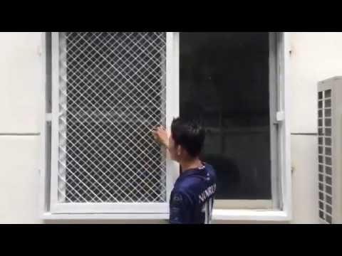 หน้าต่างเหล็กดัดบานเลื่อน ลายตาข่าย 0882781881