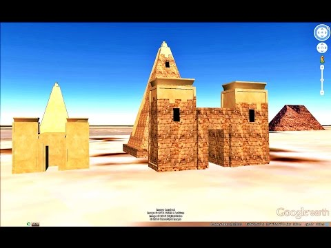HISTORICAL PLACES OF SUDAN IN GOOGLE EARTH
