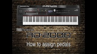 Roland RD-2000 - How to assign pedals