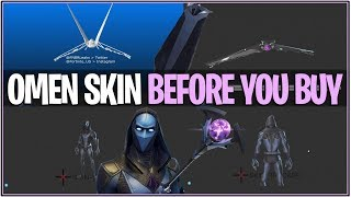 Fortnite : OMEN SKIN « Before you Buy » Sound FX, Animations and More Showcase! (Peau de fuite)