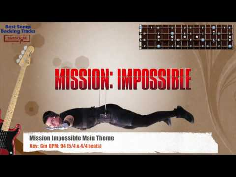 Mission Impossible Main Theme Bass Backing Track