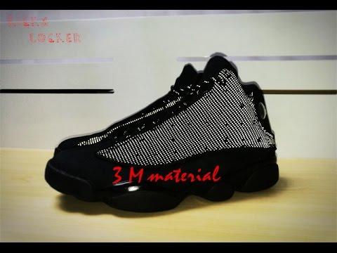 Authentic Air Jordan 13 Retro Black Cat with 3M Material