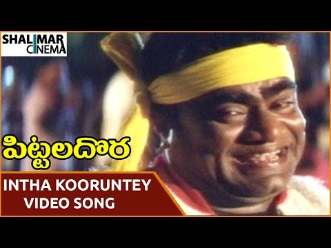Pittala Dora Movie || Intha Koorunteyyemmo Video Song || Ali, Indraja || Shalimarcinema