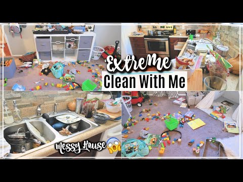 EXTREME CLEAN WITH ME | ACTUAL MESSY HOUSE CLEANING MOTIVATION | SAHM