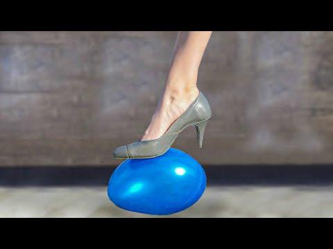 Experiment: Heels vs Water Balloon