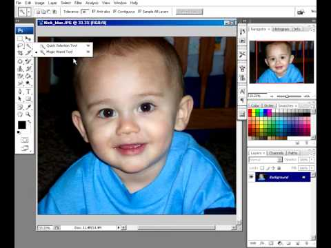 photoshop lesson 6 - using the Magic Wand tool