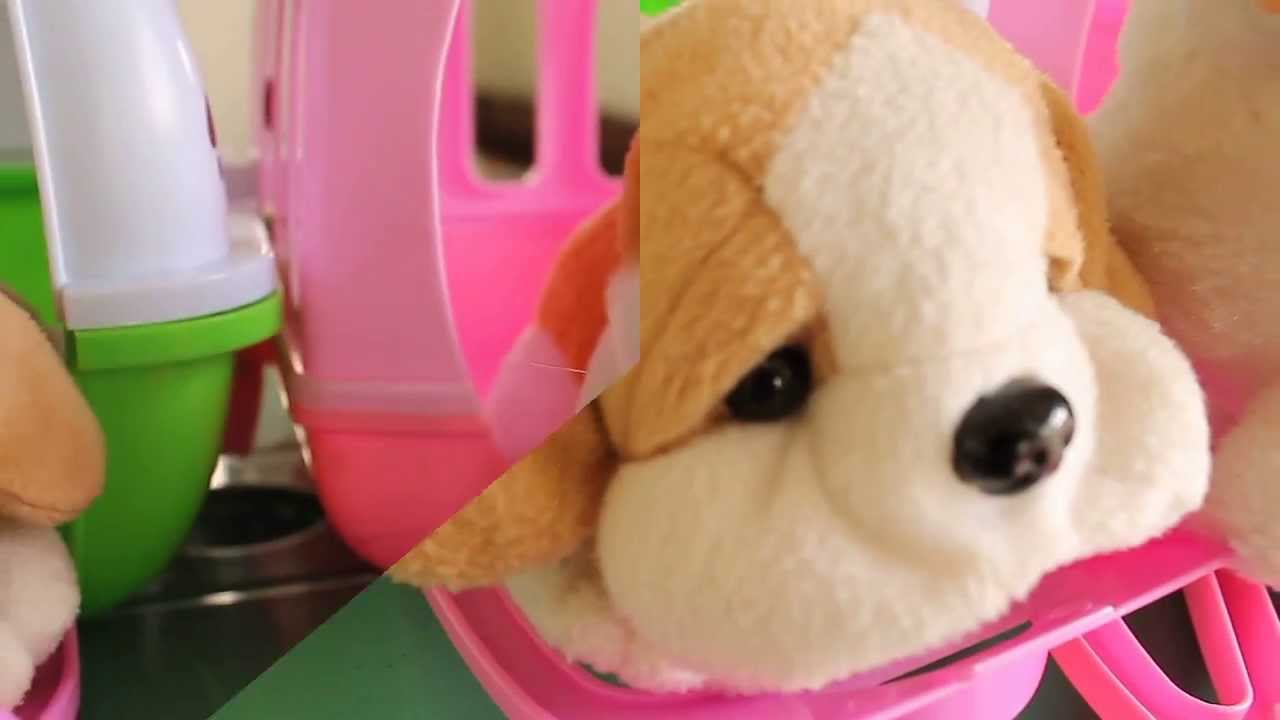 Very Cute Kitty And Puppy Stuffed Plush Toys With Baby Alive Youtube