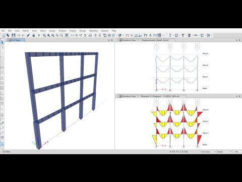 Analysis of 2D Reinforced Concrete Frames Using ETABS 2015