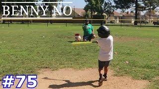 4 YEAR OLD TAKES BATTING PRACTICE | BENNY NO | VLOG #75