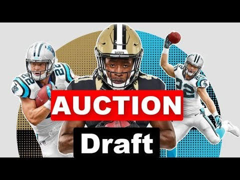 ULTRA AGGRESSIVE Auction Fantasy Draft (Kamara + McCaffrey) | 2019 Fantasy Football