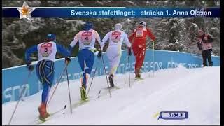 Charlotte Kalla - Beitostölen 2009 - stafett, 4x5 km (hela loppet)