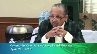 community oversight advisory board meeting april 28th 2016