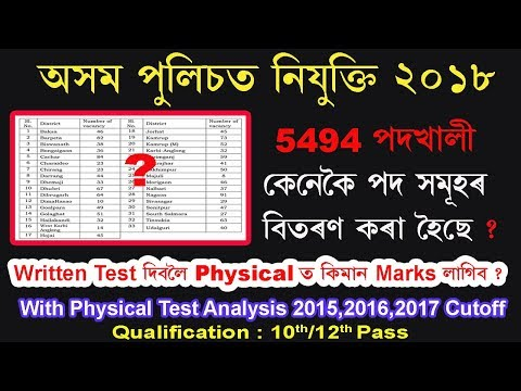Assam Police Constable AB/UB ||Cutoff marks Analysis of Physical test 2015,2016,2017,2018