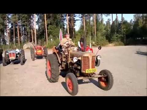 Wanha Willähti -kerhon traktorikulkue Vuolenkoskelle - YouTube