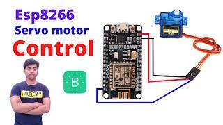 Servo motor control using nodemcu । How to control servo motor with esp8266।Esp8266 with servo motor