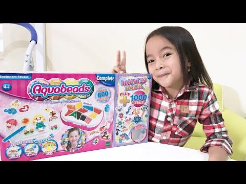 Mainan Anak   Lets Play Aquabeads   Belajar Kreatif sambil Bermain bersama Zara Cute