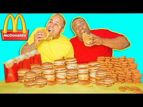McDonald's FOOD CHALLENGE!!! 100,000 CALORIES BIG MAC CHALLENGE!! $10,000 CASH BET! DRIVE THRU MENU!