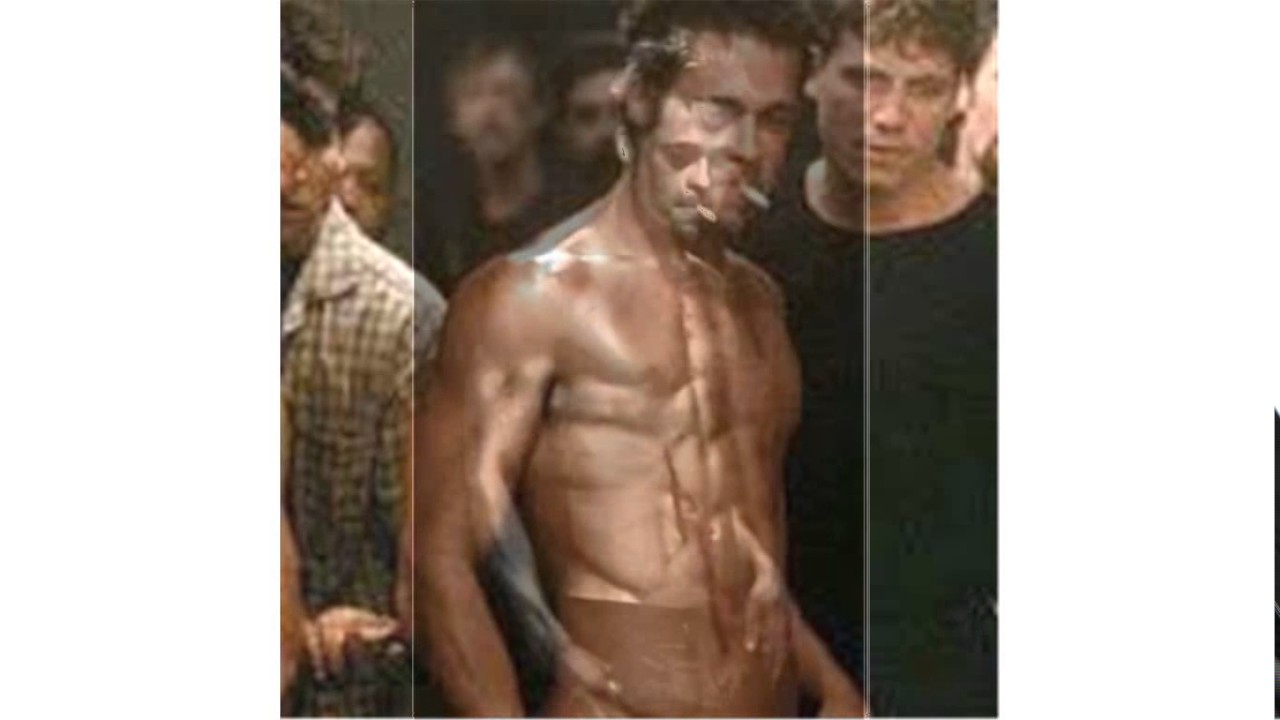 brad pitt fight club body - YouTube