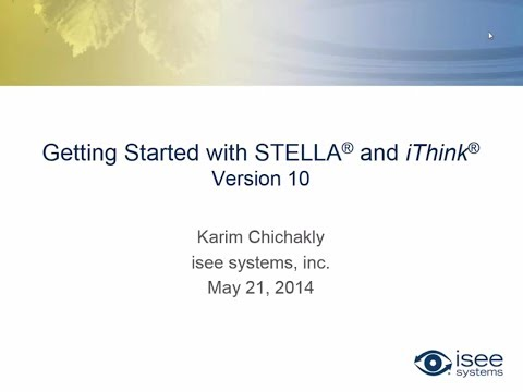 Getting Starting with STELLA® and iThink® Version 10