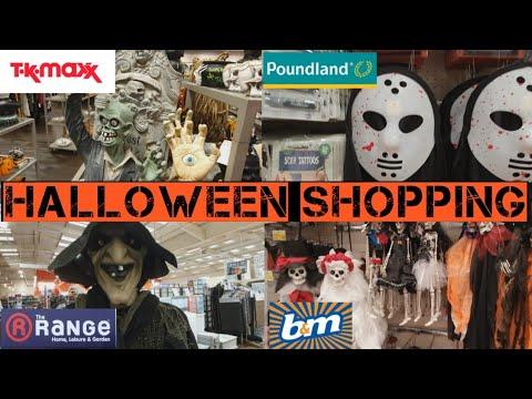 Halloween shopping in Tkmaxx, Poundland, The Range & B&M.