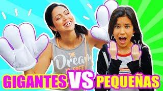 MANOS GIGANTES VS MANOS PEQUEñAS! RETO SandraCiresArt ft TV Ana Emilia
