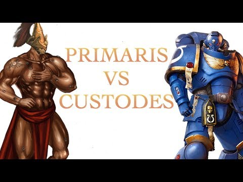 Whos Stronger Primaris Marine or Adeptus Custodes in Warhammer 40K